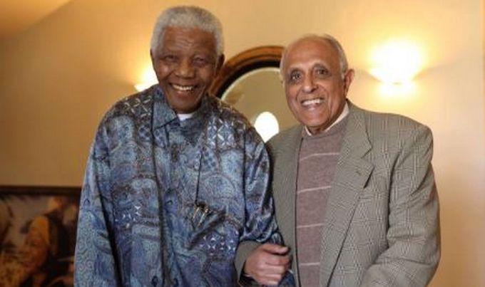 Ahmed Kathrada compagnon de lutte de Nelson Mandela